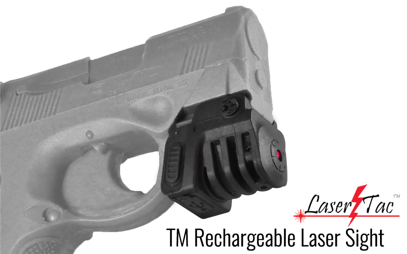 LaserTac TM Rechargeable Laser Sight for Subcompact Pistols and Compact Handguns – Available in Green or Red